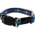 Blue Circles Adjustable Dog Collar