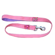 Dog Collar Designs - Pink Designer Lead