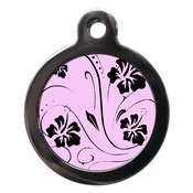 PS Pet Tags - Pink Lazy Days Pet ID Tag