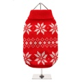 Red Snowflake Dog Sweater 2