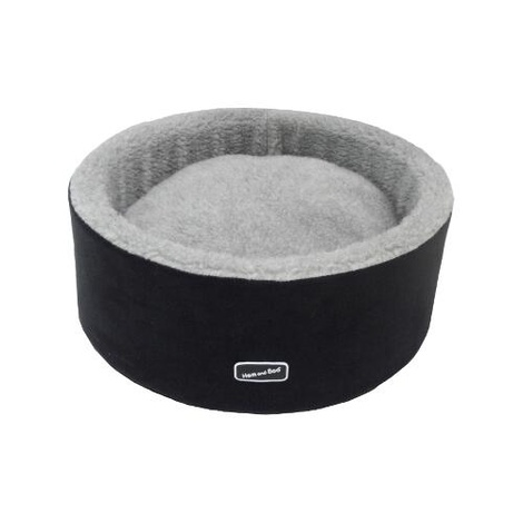 Black Round High Sided Cat Bed