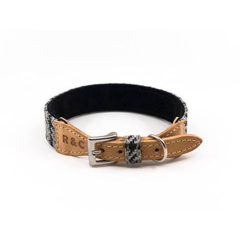Tweed & Leather Dog Collar - Henley