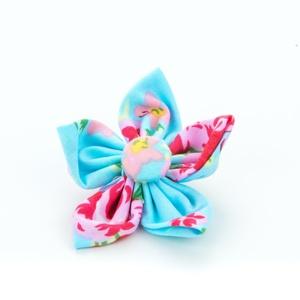 Blue Vintage Flower Collar Accessory