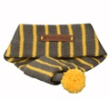 Knitted Dog Scarf – Charcoal & Lemon 3