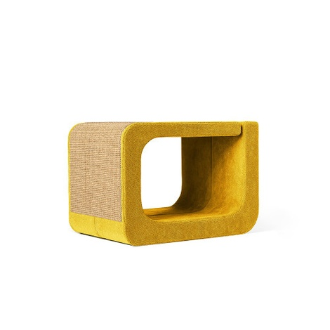 Scratching Post - Letter O - Yellow