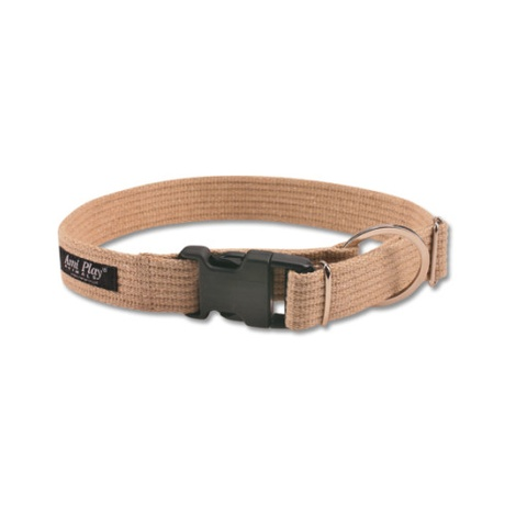 Ami Play Cotton Dog Collar – Beige