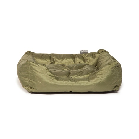 Quilted Snuggle Dog Bed – Green