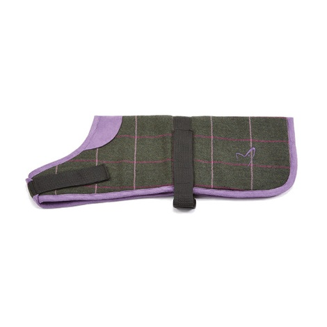 Kensington Dog Coat - Tweed Green Check