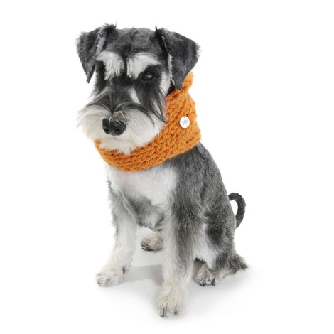 Chunky Funky Snood Scarf - Orange