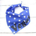 Personalised Blue Star Dog Bandana