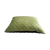 Hem & Boo - Quilted Cushion Dog Bed - Black & Green