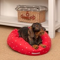Cranberry Star Cotton Donut Bed 4