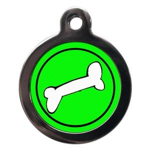 Bone Pet ID Tag - Green