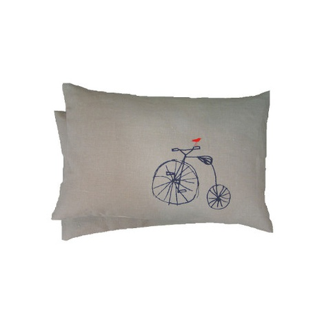 Bird on Bike Cushion