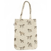 Mutts & Hounds - Dogs Linen Tote Bag - Natural