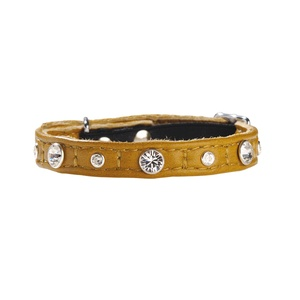 Comete Leather Cat Collar – Camel