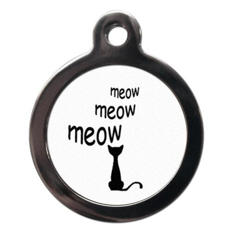 Cartoon Meow Cat Tag
