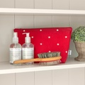 Cranberry Star Cotton Wash Bag 3