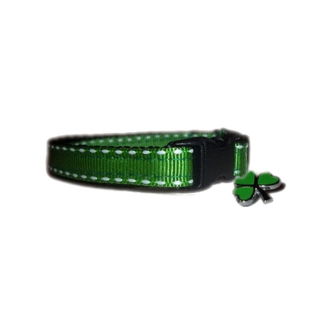 Irish Green Shamrock Small Dog/Puppy Collar