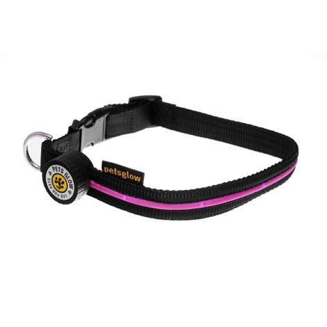 Spotlight LED Dog Collar - Pink 2