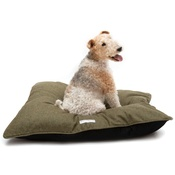 Mutts & Hounds - Forest Green Tweed Pillow Bed