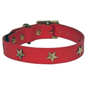 Creature Clothes - Star Studs Collar Red