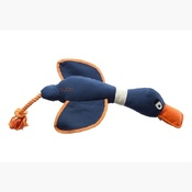 House of Paws - DUCK! CANVAS THROWER DOG TOY - NAVY
