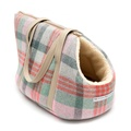 Macaroon Check Tweed Dog Carrier 6