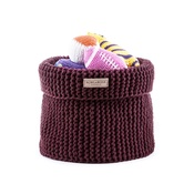 Bowl&Bone Republic - Cotton Toy Basket - Bordo