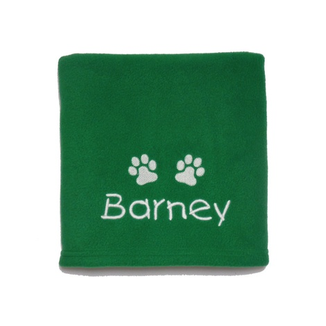Personalised Santa Paws Blanket – Emerald Green