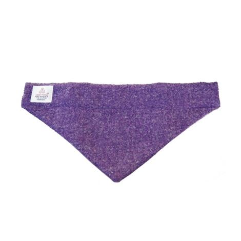 Pet & Owner Bandana/Scarf Set Purple Harris Tweed