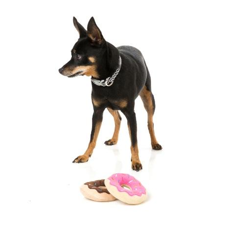 Plush Donut Dog Toy - 2 Pack 4