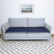 The Lounging Hound - Wool Sofa Topper - Storm Blue