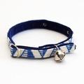 Blue Geo Cat Collar