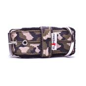 El Perro - 4cm Width Fleece Comfort Dog Collar – Jungle Camo