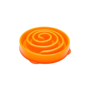 Coral Summer Orange Slow Feeder Dog Bowl