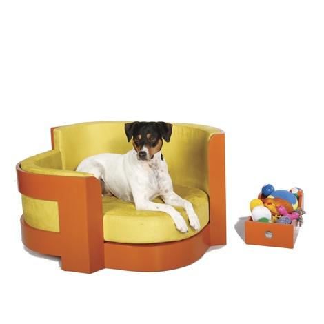 Amber Bauhaus Dog Sofa