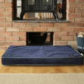 Memory Foam Corduroy Dog Bed – Midnight Blue