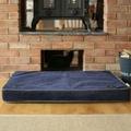 Memory Foam Corduroy Dog Bed – Midnight Blue