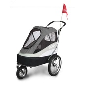 InnoPet - Sporty Black/Grey Buggy and Trailer