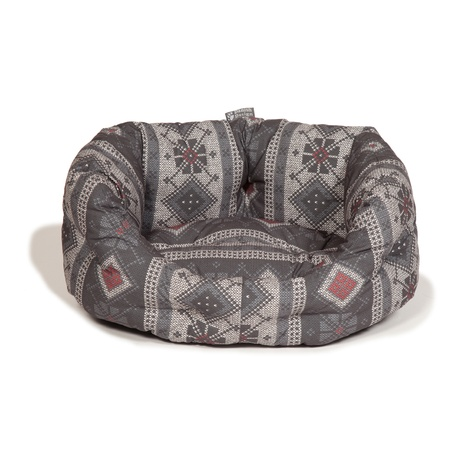 Deluxe Slumber Bed – Fairisle Pebble 2