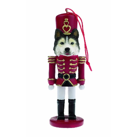 Siberian Husky Nutcracker Soldier Ornament