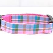 Pet Pooch Boutique - Raspberry Barkberry Plaid Collar