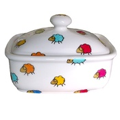 Laura Lee Designs - Sheep Butterdish