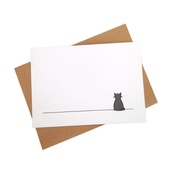 Jin Designs - Set of 12 Sitting Cat Notecards