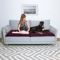 Plush Velvet Sofa Topper - Plum