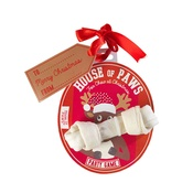 House of Paws - Rudolph Rawhide Bone Christmas Bauble