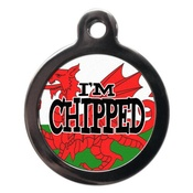 PS Pet Tags - I'm Chipped Red Dragon Pet ID Tag