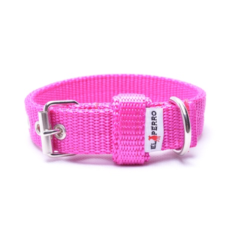 Double Dog Collar – Fuchsia Pink