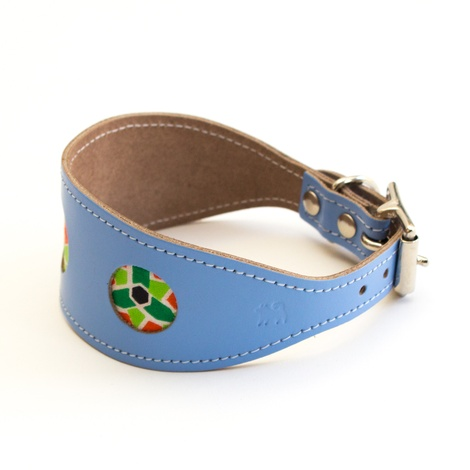 Mosaic Blue Hound Collar 2